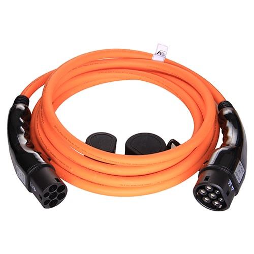 1-EV Type2 -> Type2 orange (3x32A) EV Charger